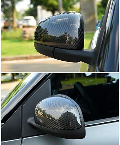 Moligh doll Carbon R/üCk Spiegel Abdeckung Seiten Spiegel Dekoration Abdeckung f/ür Mercedes Smart 453 Fortwo Forfour Auto Styling