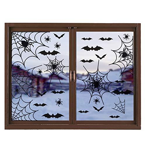 OPII 39 Piece Halloween Party Decorations Black Bats