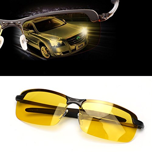 New Men High-End Night Vision Polarized UV400 Driving Glasses Aviator...