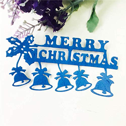 VT BigHome Cutting Dies Cut Merry Christmas Small Bell DIY Scrapbook Paper Craft Card Album Embossing Stencils Template Punch ()