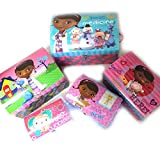Set of 5 trunks dome 'Docteur La Peluche'pink blue.