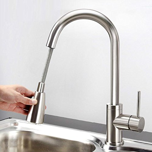 Kitchen Sink Bump Out: Yaheetech Pull Out Kitchen Sink Faucet Single Handle