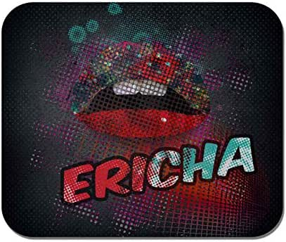 Makoroni - Ericha Female Name - Non-Slip Rubber - Computer, Gaming, Office Mousepad