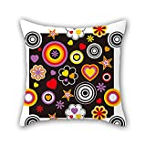 NICEPLW throw cushion covers of flower,for gril friend,kids room,bf,him,car seat,couples 16 x 16 inches / 40 by 40 cm(both sides)