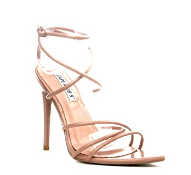 03405d78da4f Image Unavailable. Image not available for. Color  Cape Robbin Ada Nude  Pointed Barely There Heel