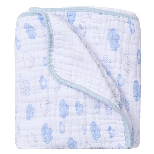 Cobertor Soft Estampado, Papi Textil, Azul, 1.0Mx80Cm