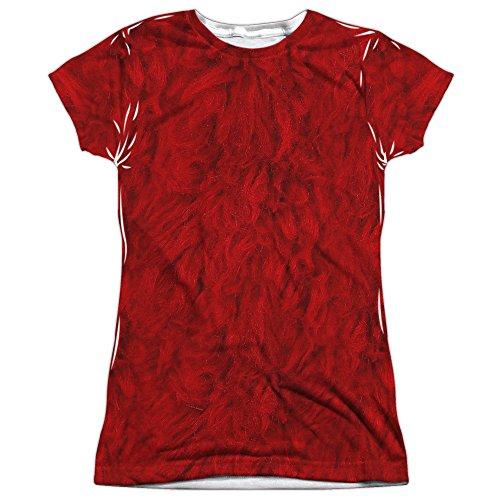 A&E Designs Juniors Elmo Costume Sublimation Shirt (Front & Back), Medium ()