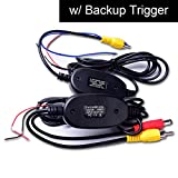 Wireless Video Cable w/ Backup Trigger Wire Tx & Rx for RCA Rear View Camera to GPS Navi, Headunit, Monitor LCD Screen 12V