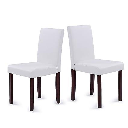 IKAYAA 2 PZ Sedia per sala da pranzo, poltrona sedia da cucina con ...
