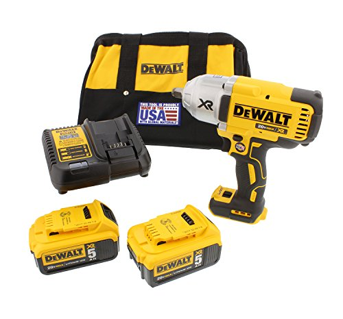DEWALT DCF899HP2 20V MAX XR Brushless High Torque 1/2'' Impact Wrench Kit with Hog Ring Anvil by DEWALT