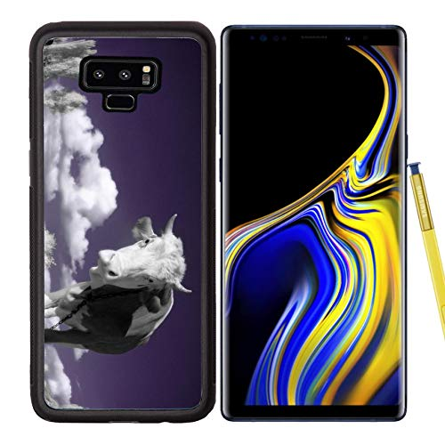 Samsung Galaxy Note9 Case Aluminum Backplate Bumper Snap Case Image ID: 4751899 A Cow is in The Field is in an Infra red Color Shoot Special photocam ()