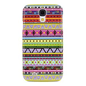 Multi-Color Weaving Cotton Cloth Pattern Protective Hard Back Cover Case for Samsung Galaxy S4 I9500