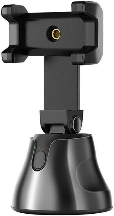 Smart Ai Gimbal Artefacto C/ámara Fotogr/áfica Estabilizador de Card/án para Tel/éfono Inteligente 360 /° Smart Tracking Gimbal Camar/ógrafo de Robot Personal Negro