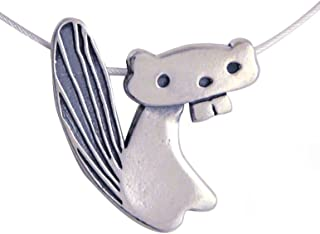 product image for Modern Artisans Beaver Sterling Silver Charm Necklace, American Made