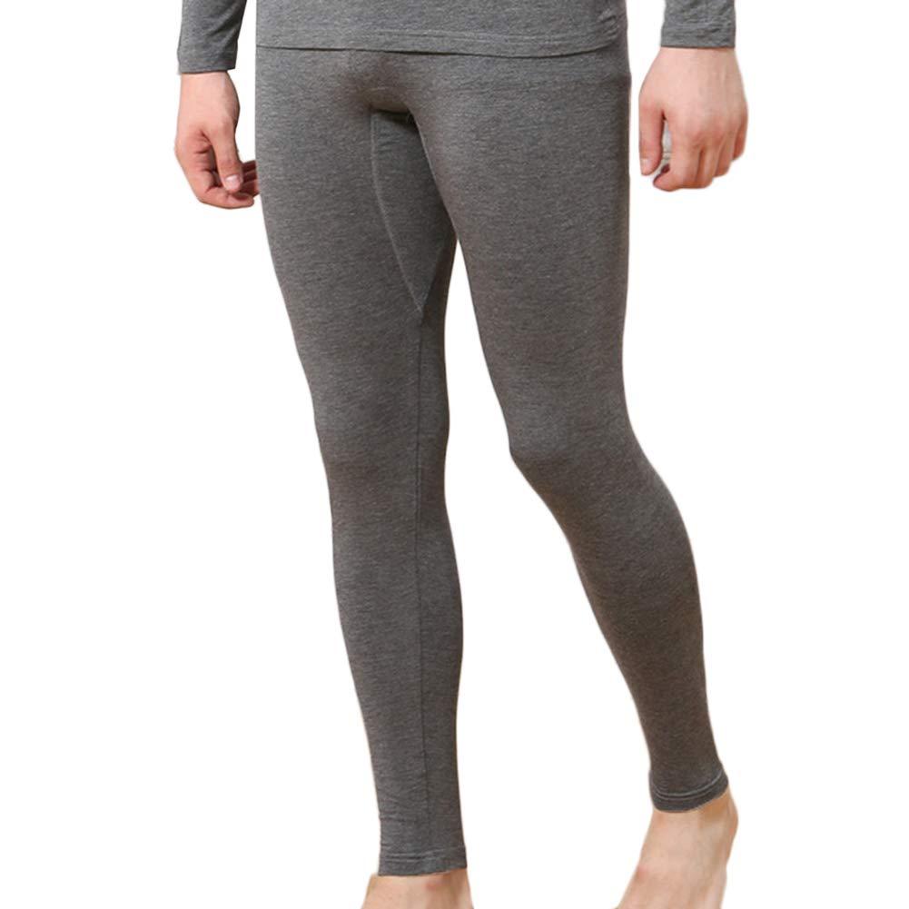 Uomo Lunghi Pantaloni Termici Invernale Stretto Intima Termica Sottile Caldo Legging LaoZanA