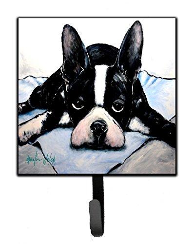 - Caroline's Treasures MW1241SH4 Boston Terrier Jake Dog Tired Leash or Key Holder, 7Hx4.25W, Multicolor