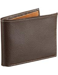 Perry Ellis男款棕色真皮钱包 Ny Simple Bifold Wallet $15.19