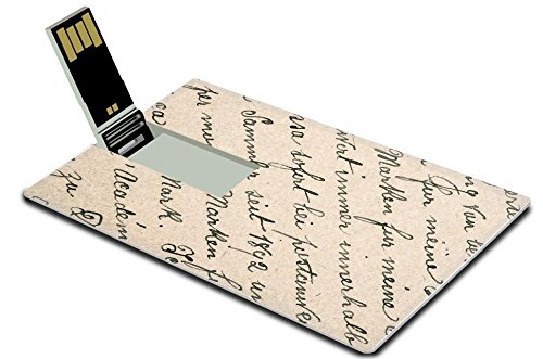 MSD 32GB USB Flash Drive 2.0 Memory Stick Credit Card Size Image ID 1896 grunge vintage background Image ID 27134380 old handwritten text in german language from ca (Free Text And Ca compare prices)