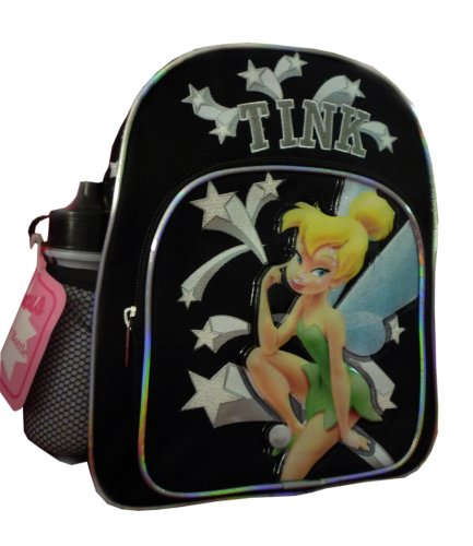 Mini Backpack - Disney - Tinkerbell - w/ Water Bottle Black