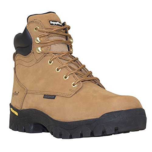 RefrigiWear Men's Ice Logger Insulated Waterproof Leather Work Boot (Tan, Size 12) (Boot Logger Waterproof Insulated)