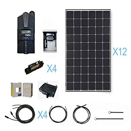 Renogy 3600 Watt Monocrystalline Solar Cabin Kit For Off Grid System With 12 Pcs Of 300w Panel And Midnite Mppt Controller Garden