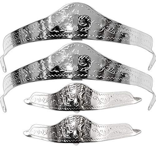 Modestone Caps Filigree Silver 2 Metal 4x X Heel Toe Boot tggwI