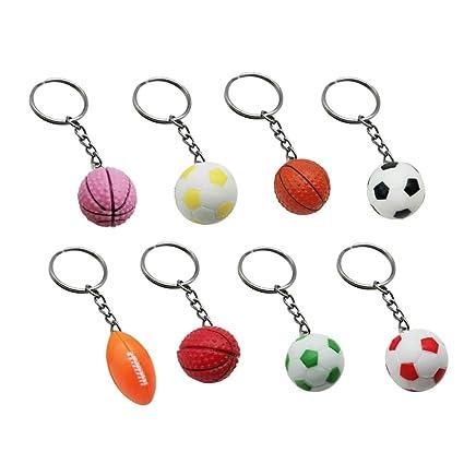 TOYANDONA - Juego de 8 llaveros con diseño de balón de fútbol ...