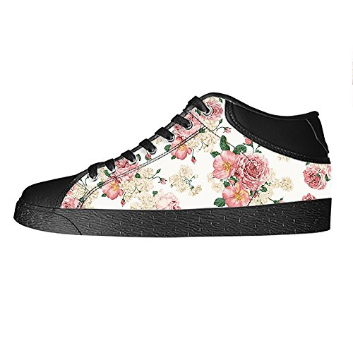 Dalliy Floral Flower Womens Canvas shoes Schuhe Lace-up High-top Footwear Sneakers A