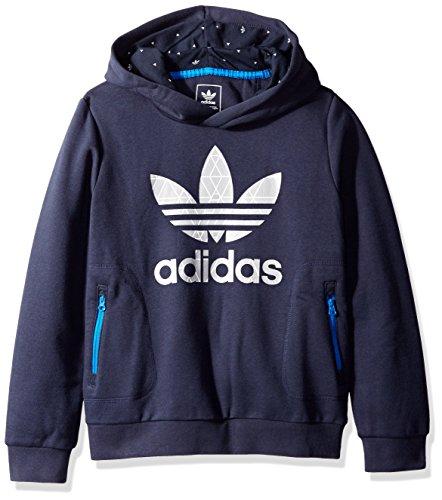 adidas Originals Boys' Active Hoodie, Legend Ink/Medium Grey, Small