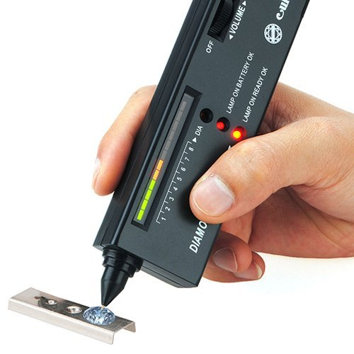 2Pcs Diamond Tester II & Moissanite Selector Gemstone Jewelry Gems Tool LED Audio Kit MECO CO. LTD