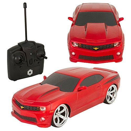 (Braha Full Function Remote Control 1:24 Scale - Red Chevy Camero, Red)