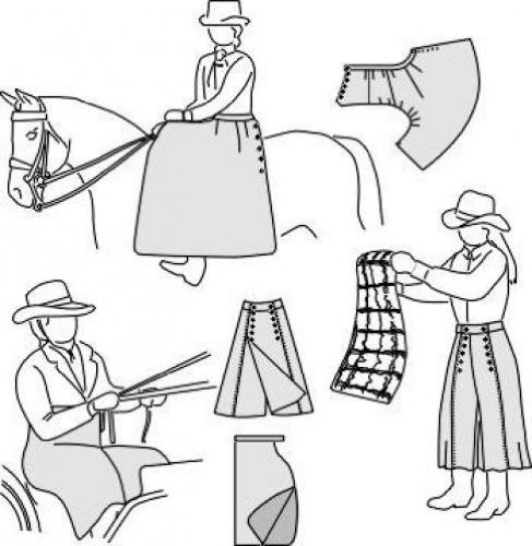 (Suitability 6500 Sidesaddle apron, Driving apron, & Riding Skirt Sewing Pattern)