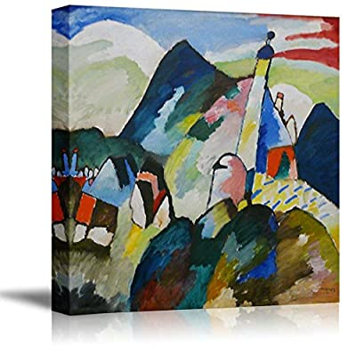 Blick auf Murnau mit Kirche by Wassily Kandinsky Print Famous Painting Reproduction, With a Professional Touch, Delightful Portrait