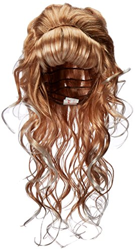 Bouffant Wig 60's Costumes (Smiffy's Women's Long Blonde 60's Wig with Bangs and Fluffed Front, One Size, Beauty Queen Wig, 5020570420119)
