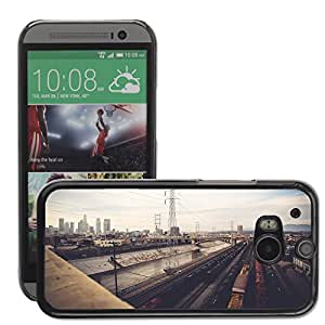 Hot Style Cell Phone PC Hard Case Cover // M00044125 urban angeles los artistic // HTC One M8