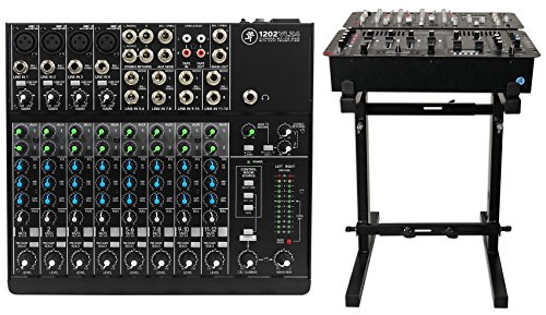 New Mackie 1202VLZ4 12-Ch Compact Analog Low-Noise Mixer w/ 4 ONYX Preamps+Stand