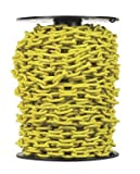 Campbell PD0725027 System 3 Grade 30 Low Carbon Steel Proof Coil Chain on Reel, Yellow Polycoated, 3/16'' Trade, 0.21'' Diameter, 100' Length, 800 lbs Load Capacity