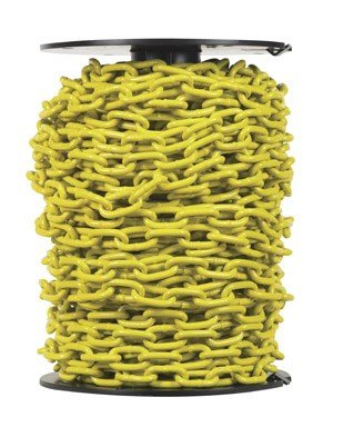 Campbell PD0725027 System 3 Grade 30 Low Carbon Steel Proof Coil Chain on Reel, Yellow Polycoated, 3/16'' Trade, 0.21'' Diameter, 100' Length, 800 lbs Load Capacity by Apex Tool Group