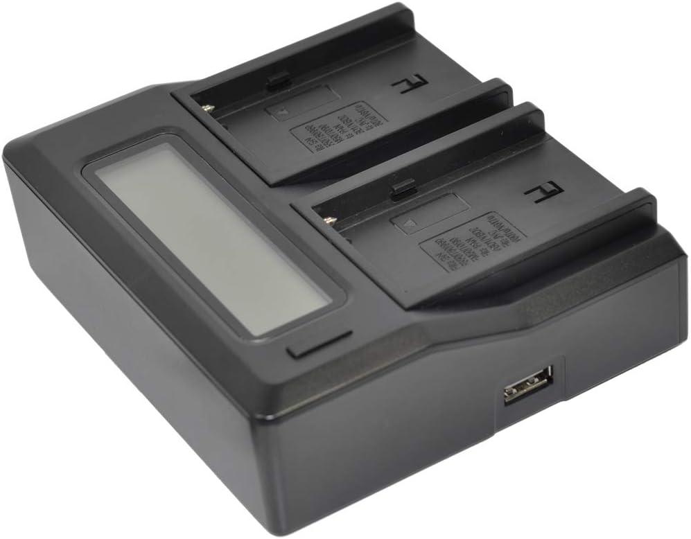 DUAL Ladegerät mit Display für SONY NP-F750SP NP-F930 NP-F950