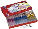Color & Co. 144 Piece Grippy Paintbrush Kit