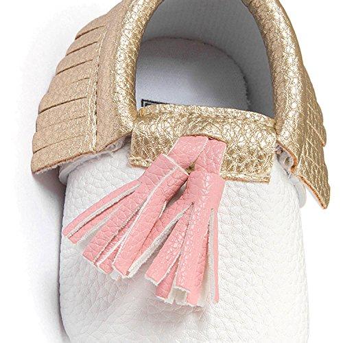 Gosear Borlas Zapatos de Bebé Zapatillas Suave para 0-6 meses C