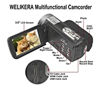 "WELIKERA Camera Camcorder, Remote Control Handy Camera, IR Night Vision Camcorder, HD 1080P 24MP 16X Digital Zoom Video Camcorder with 3.0"" LCD and 270 Degree Rotation Screen from EE DEPOT INC"
