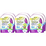 Flushable Wet Wipes and Refillable Container for Kids by Kandoo, Hypoallergenic Potty Training Cleansing Cloths for Sensitive Skin, Unscented, 50 ct Wipes and Refillable Plastic Tub, Pack of 6