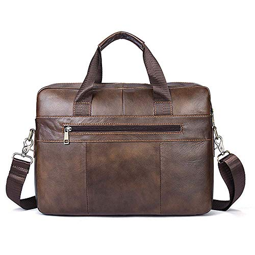 Bag Messenger Real Messenger Portable Susulv Caffè Caffè Leather Bag Briefcase colore f0wd0npq