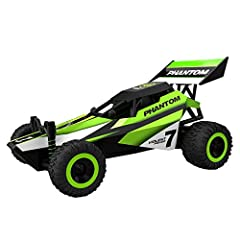 15 MPH fully proportional 1:32 scale buggy with 2.4 GHz remote system allowing up to 49 players to race with no interference. Has removable Lipo battery