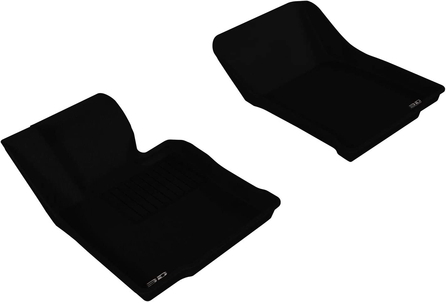 Passenger /& Rear Floor 2008 GGBAILEY D3783A-S1A-BK-LP Custom Fit Car Mats for 2006 2007 2009 Hyundai Accent Sedan Black Loop Driver