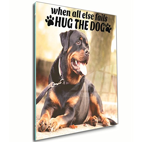When All Else Fails Hug the Dog  Wall Decor Wall Ar