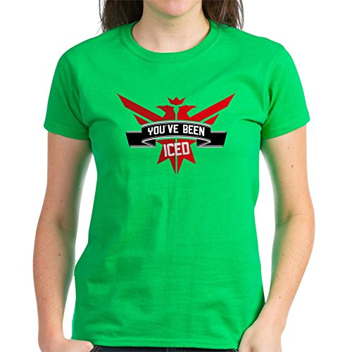 - CafePress 10X10_Apparel_Iced Womens Cotton T-Shirt
