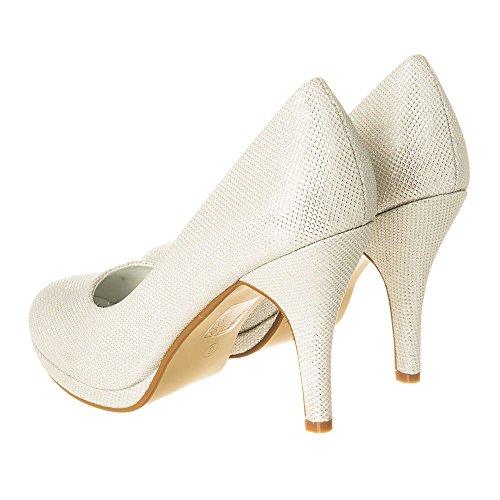 Para Mesh Mujer Diva Ivory Vestir Miss Zapatos De pwH61Ixnaq