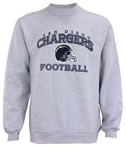 - Reebok San Diego Chargers NFL Mens Classic Fleece Crew Sweatshirt, Grey (Small)